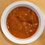 イナバチキンとインドカレー皿