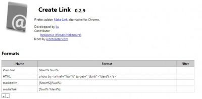 creat link setting